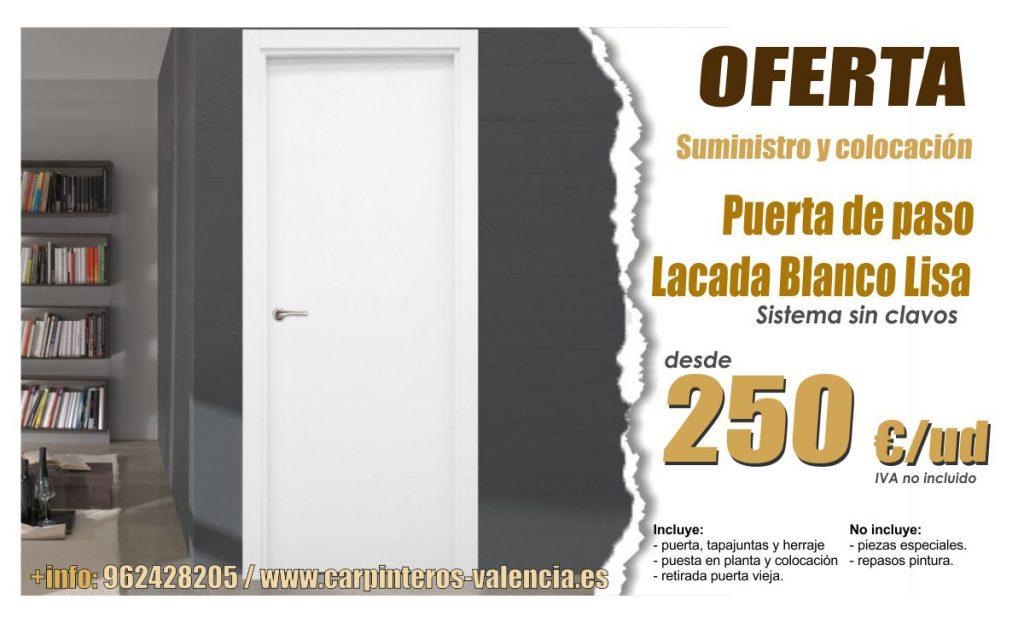 Oferta puerta interior de vivienda en Valencia